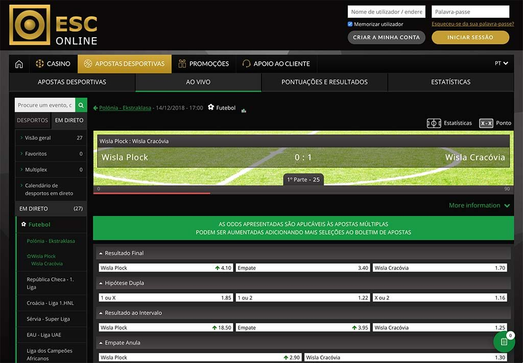 Casinos esc online